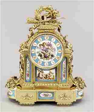 Fire gilded mantel clock, 2n