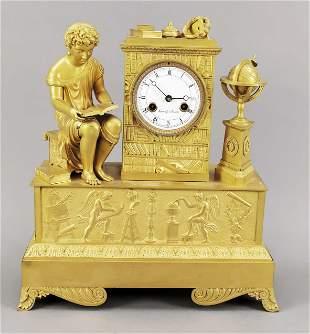 Empire figural pendulum, Fra