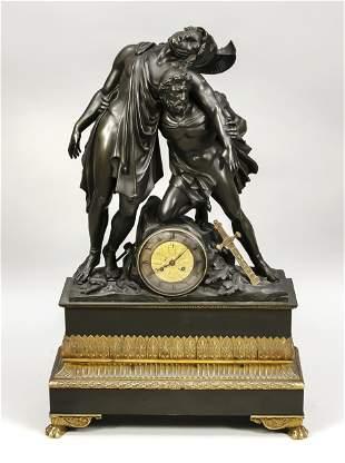 Giant bronze figural pendulu