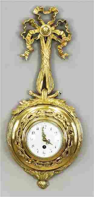 Bronze cartel clock fire gil