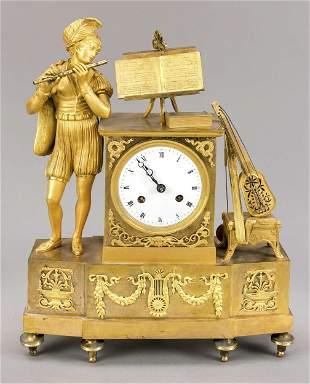 Fire gilded figural pendulum