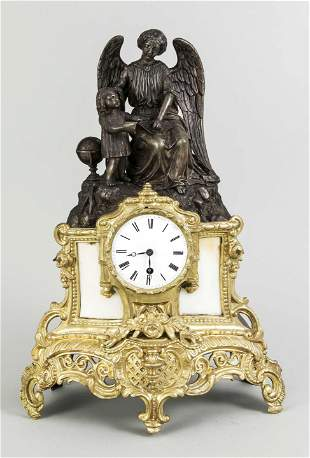 fire gilded french figural p