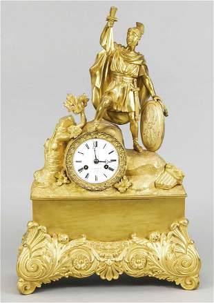 Empire figures mantel clock