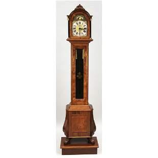 Floor standing clock, marked