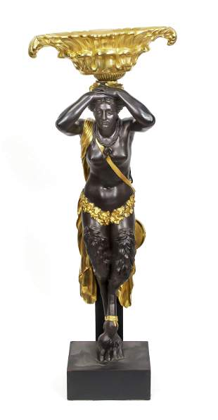 Figure with planter, France,