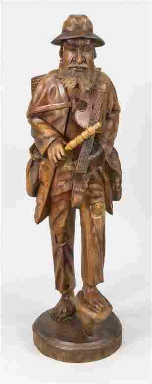 Wooden figure around 1900, c