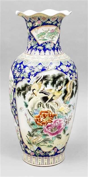 Famille rose floor vase, Chi