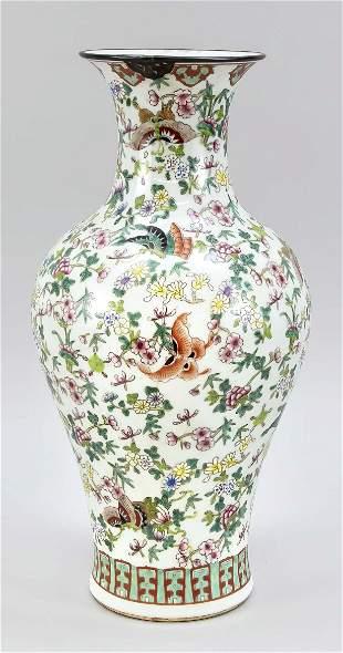 Famille rose vase, China, 19