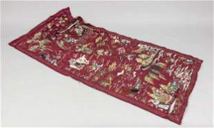 Silk embroidery, China, end