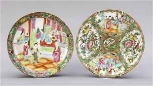 2 Famille Rose plates, China