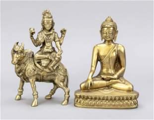 2 bronze figures, China, 20t