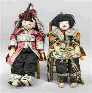 Pair of life-size child doll
