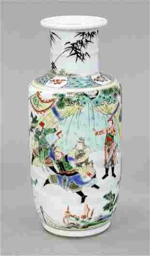 Famille Verte Rouleau vase,