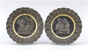 Pair of relief wall plates, la