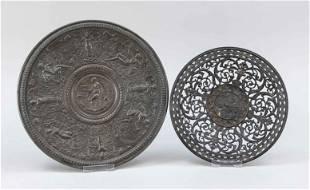 2 Historism plates, 19th c., i