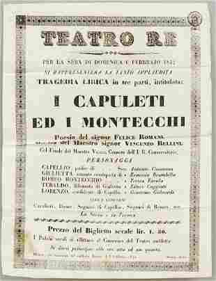 Old program poster of Teatro R