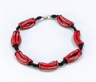 Art deco bakelite necklace, 1s