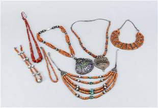 Mixed lot of coral jewelry, pr