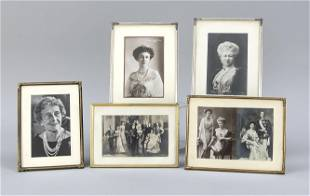 5 table frames with cards and