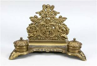 Desk set, late 19th c., bronze