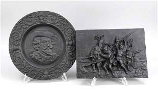 Wall relief and relief plate,