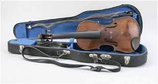 Violin & bow in case, 19th/20t