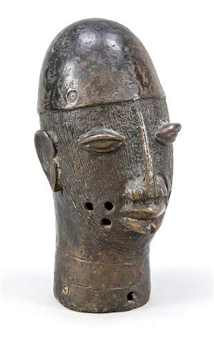 Head of a Benin bronze, Benin,