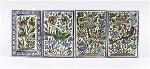 4 tiles Iznik?, probably 19th/