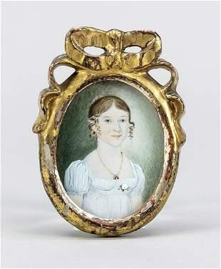Empire miniature portrait of a