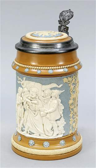 Mettlach jug, late 19th c. Wit