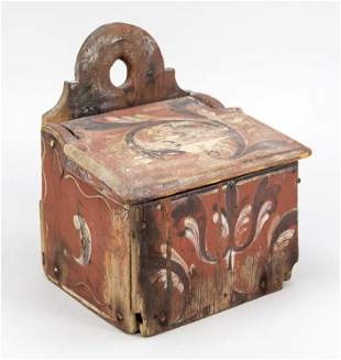 Old wooden box, 18th/19th c.,