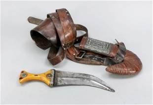 Hand-shear/curved dagger, 19th