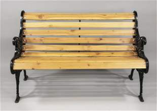 Garden bench, 19th/20th c. The