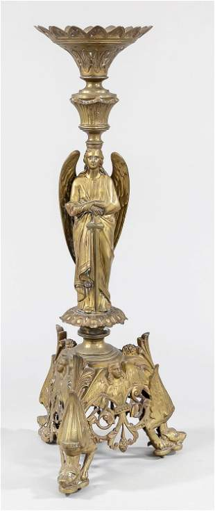 Altar candlestick, late 19th c