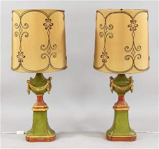 Pair of lampstands, 20th c., w