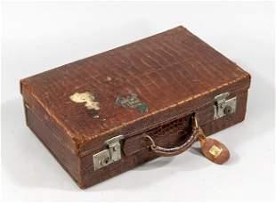 Suitcase, 1st v. 20th c., croc