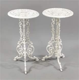 2 bistro tables, 19th/20th c.,