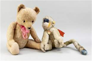 Monkey and teddy, mohair, monk