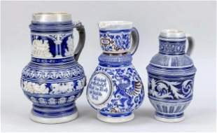 Three Westerwald jugs around 1