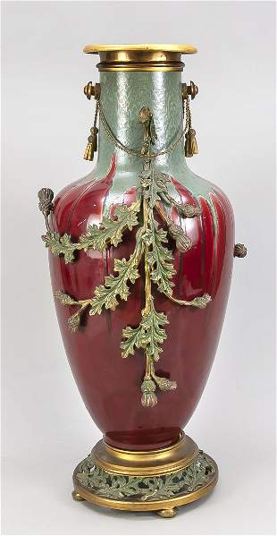 Large ornamental vase, late 19