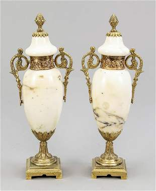 Pair of side plates as ornamen