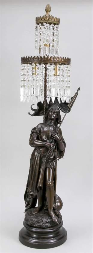 Figural lamp, France 19th c.,