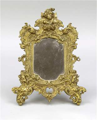 Historism table mirror, end of