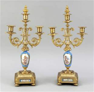 Pair of candlesticks, France,