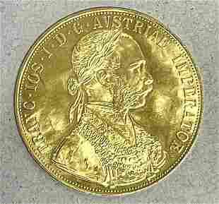 Gold coin Austria-Hungary, 4 d