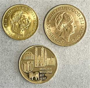 3 gold coins: 1x Netherlands,
