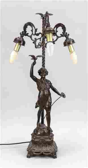 Figural lamp, late 19th centur