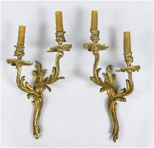 Pair of wall appliques, late 1