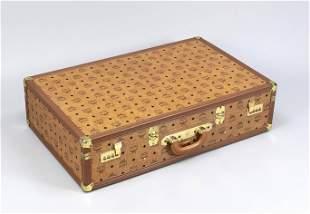 MCM, large travel case, cognac