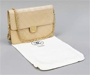 Chanel, vintage flap bag, beig